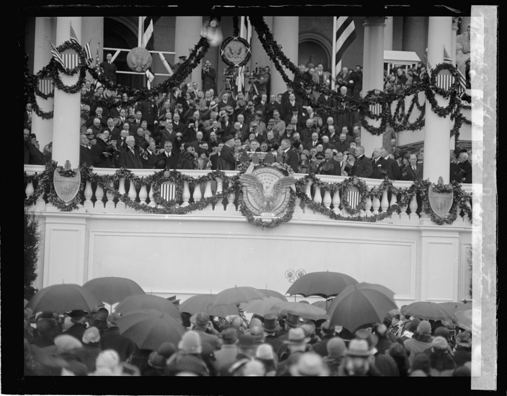 The inauguration of President Herbert Hoover on March 4, 1929 was held up by two unlikely suspects. (1/11)   Image Credit: Library of Congress