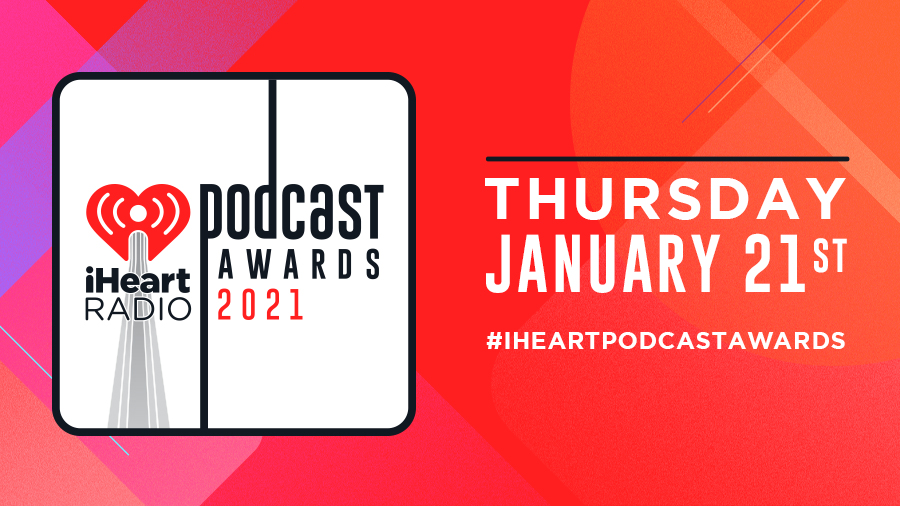 Watch our #iHeartPodcastAwards TOMORROW night on @iHeartRadio's YouTube & Facebook at 9:00pm ET 🤩     Here are the nominees:  👏👏👏