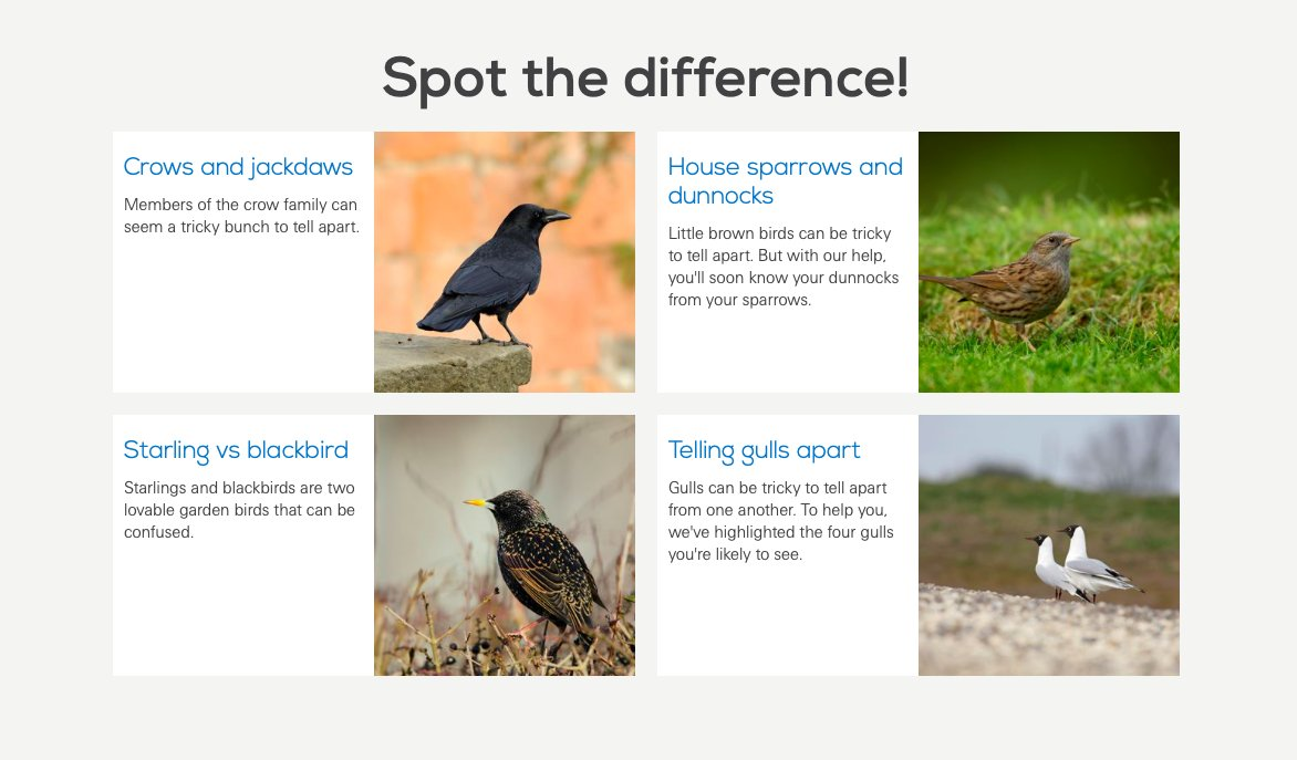 Here of some resources to help you identify some birds you are likely to see during your health walk. Bill has included some exotic species for any professional twitchers. #BigBird #Orville #Emu #iSpy #BirdWatch #BigGardenBirdWatch @Natures_Voice