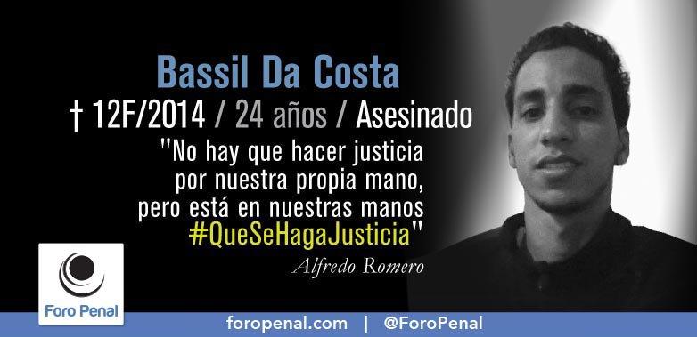 #12Ene ✝️ #Venezuela 👁️🗨️ #QueSeHagaJusticia Hoy se cumplen 6 años y 11 meses de la muerte de Bassil Da Costa el 12/02/2014  No lo olvidemos.  ✍️@ForoPenal