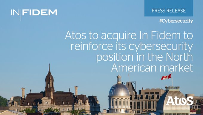 Very excited to share that @Atos has agreed to acquire @infidem_ca 🇨🇦, reinforcing our...