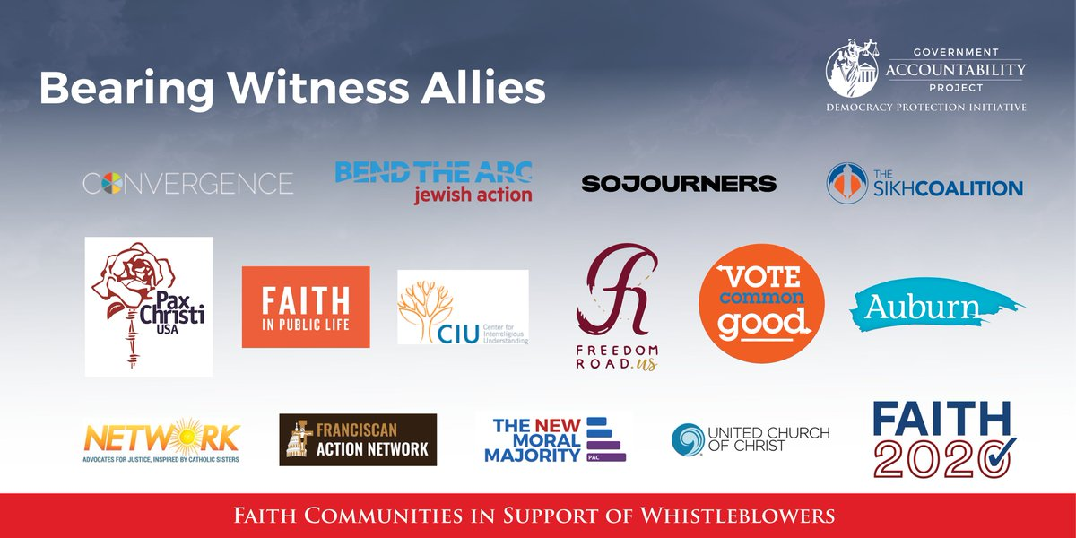 We're proud to be allies of @GovAcctProj's #BearingWitness, which provides resources to faith communities on whistleblowing ➡️ democracy.whistleblower.org/faith