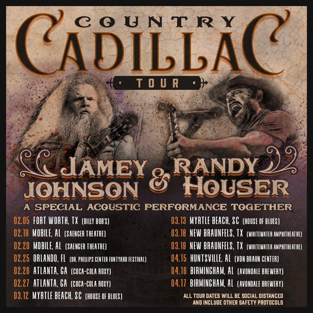 Could not be more excited to get back on the road and play actual LIVE music again!  @jamey_johnson and I are hitting the road to perform a special acoustic set together for the #CountryCadillacTour. (1/2)