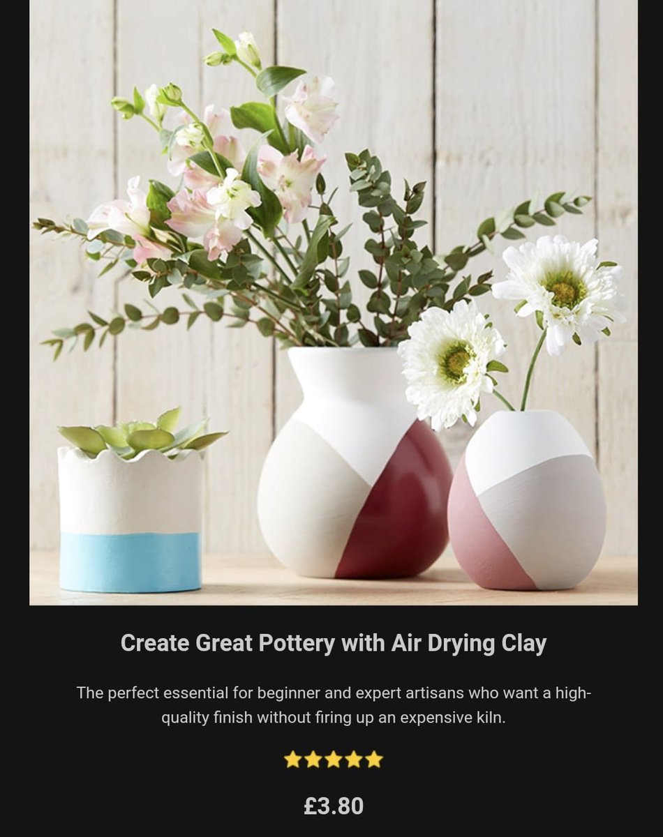 Hobbycraft Cambridge On Twitter Create Great Pottery With Air Drying Clay 16 Creative Clay Gift Ideas Inspiration Hobbycraft Cambridge Handmade Makeitshareit Https T Co Kmewydfjyl Https T Co Abtfje0lid