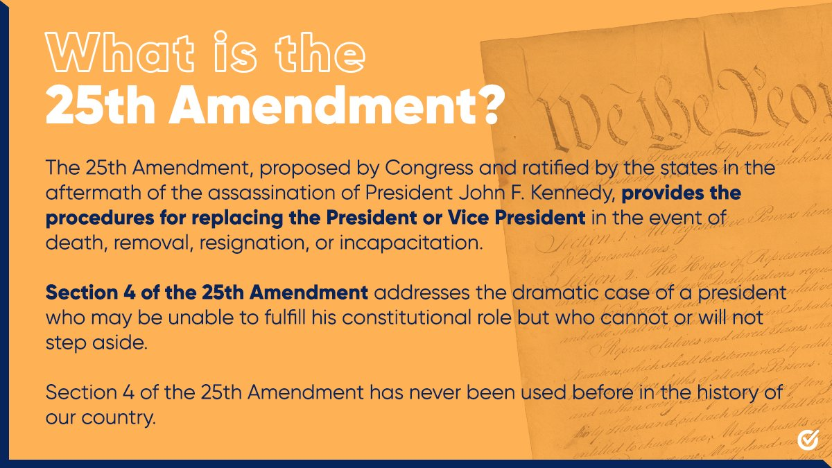 Today, the House of Representatives will vote on a resolution urging Vice President Pence to invoke the 25th Amendment.   Here's what it all means.