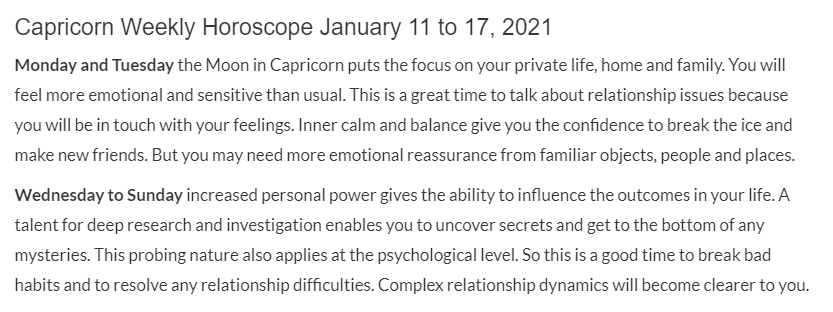 Replying to @DailyCap24: #Capricorn Weekly Overview for January 11, 2021 ✨
