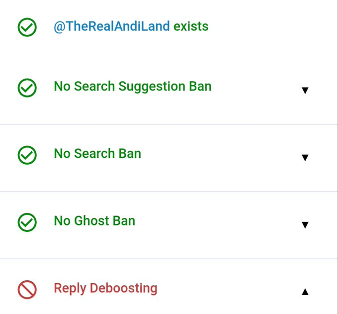 Well, shit. Search bans are gone but now they hit me with deboosted replies. 😬 (these are results of