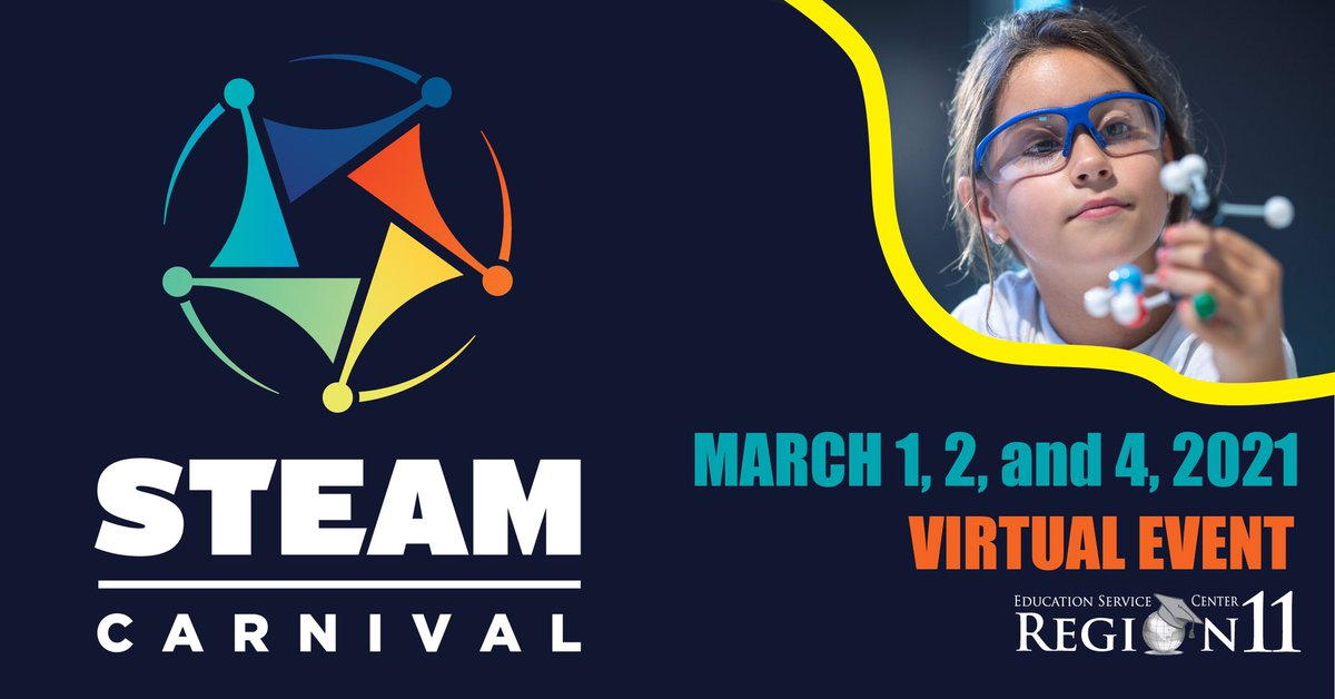 🎟 Get ready! 🎟 Tickets for the 2021 Virtual STEAM Carnival go on sale tomorrow! #R11STEAMCarnival
