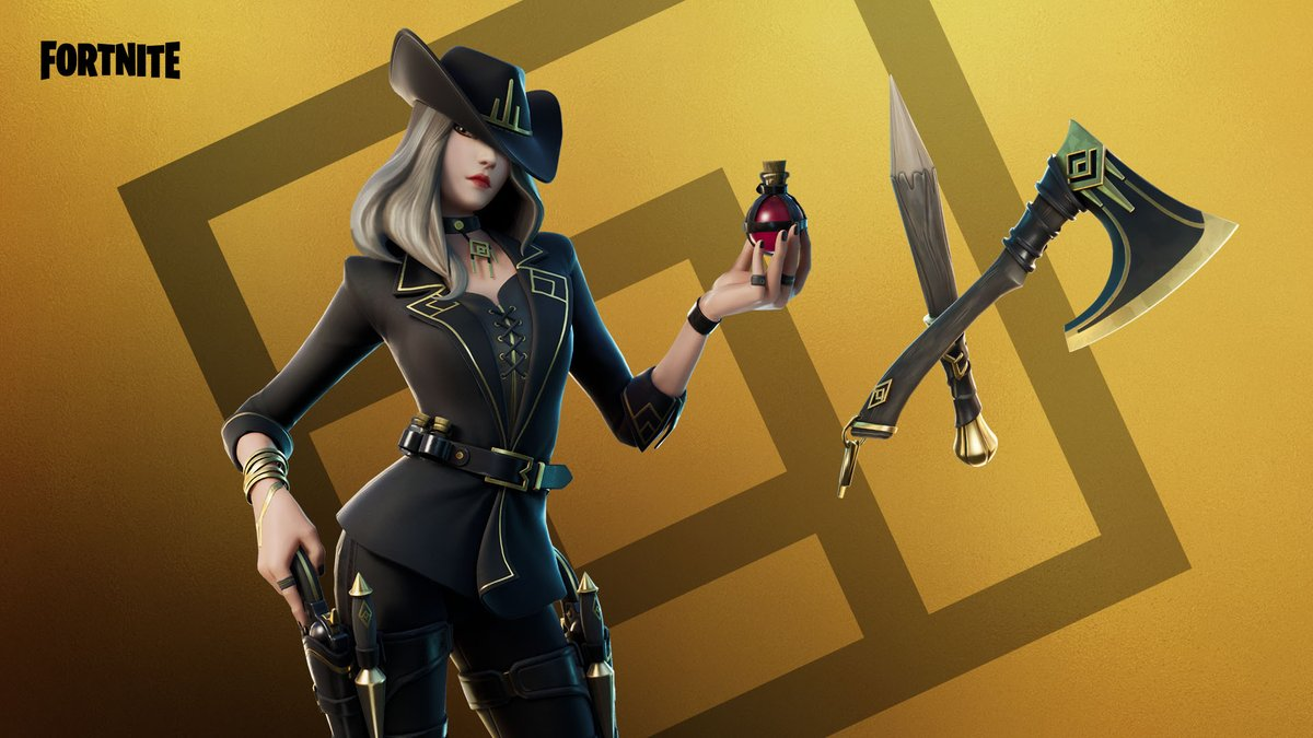 Prepared for a hunt with sharp stakes at her side and sights set for vampires. Bring on the night!   Grab the Victoria Saint Outfit now.
