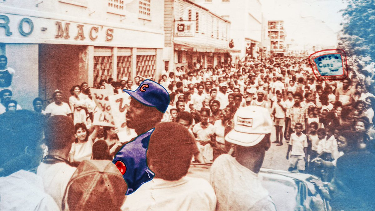 In 1985, before @Cubs outfielder Gary Matthews reported to Spring Training, he was told that he was making a trip to Belize. Why you ask?