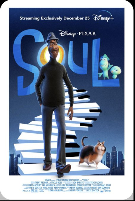 If you haven't seen Soul yet it's a 10/10. I love coming across movies like this. https://t.co/UwBE7