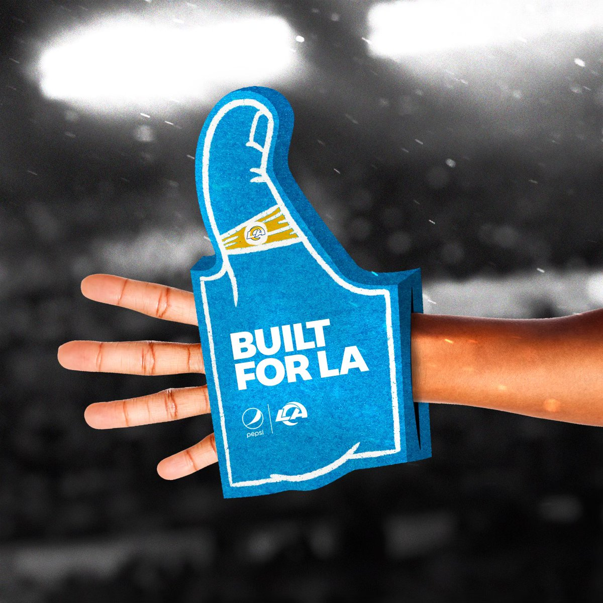 Rams Nation, thumbs up on the Super Wild Card round win. We're thinking of making a foam finger for your thumb finger to celebrate. If we see enough 👍 in the comments we might just make them. #BuiltForLA