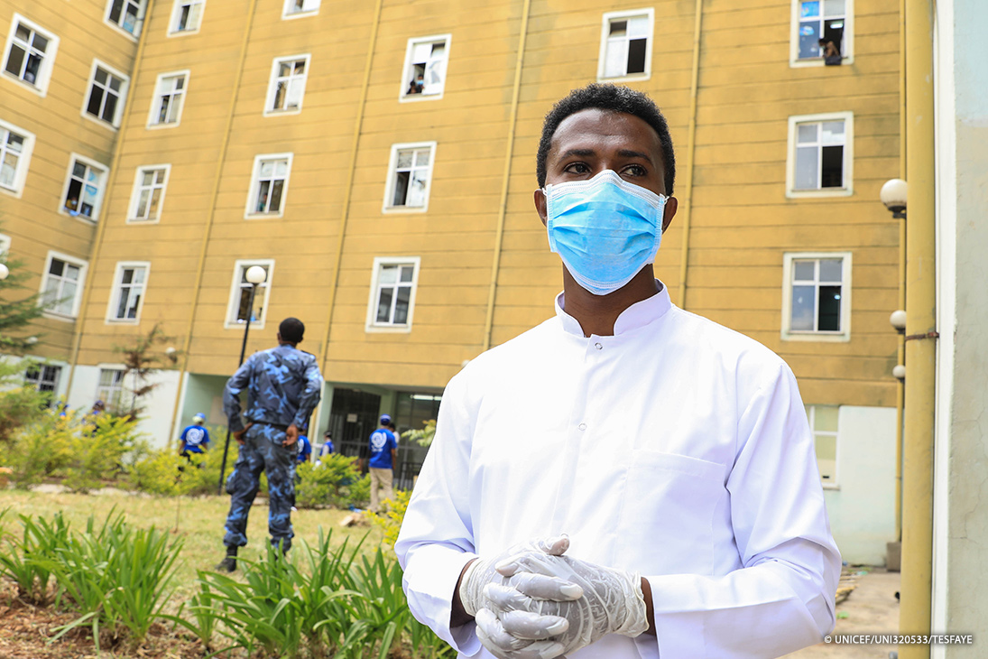 """At Ethiopia's Civil Service University, Doctor Taye is tasked with welcoming trafficking victims home, first quarantining returnees to prevent the spread of #COVID19.  """"If we find symptoms or high fever, we take them to a prepared isolation area,"""" he says:"""
