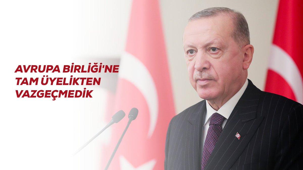 Türk tarihini nasıl Avrupa'sız okumak mümkün değilse, Avrupa tarihini de Türkiye'siz anlamak mümkün değildir.   Millet olarak geleceğimizi Avrupa ile birlikte tasavvur ediyoruz. Bu anlayışla 60 yıldır Birliğe tam üyelik mücadelesi veriyoruz.