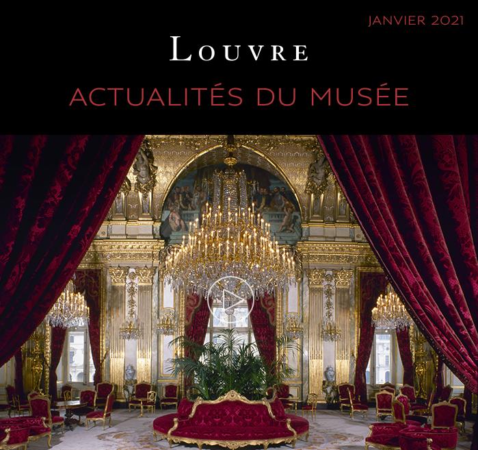 L'info-lettre du #Louvre vient de paraître ! ✉  ✨ Visitez les appartements Napoléon III en vidéo  🎻 Assistez à un concert en direct sur Youtube 🎧 Ecoutez notre #podcast Les Odyssées du Louvre  Retrouvez toutes les actualités du mois de janvier ici  👉