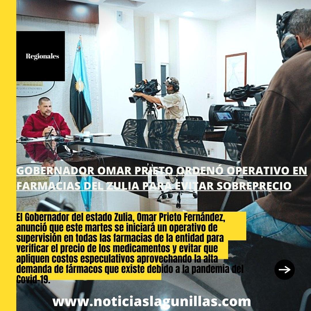 Gobernador Omar Prieto ordenó operativo en farmacias del Zulia para evitar sobreprecio  Amplía la información en nuestra página web   #Zulia #Salud #Medicamentos #Farmacias #Especulacion #12Enero