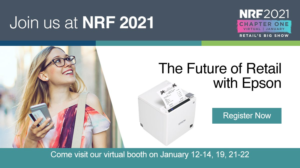 Join us at Retail's Big Show, #NRF2021! We will offer the tools and insights needed to help businesses move forward today, and well into the future. Register now: