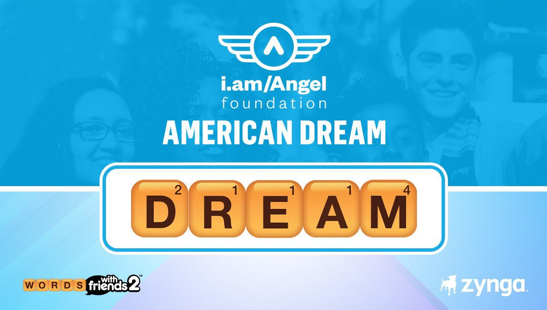 We've partnered with @iamwill and the @iamangelfdn to bring you today's #WordoftheDay and to kick off the launch of the #AmericanDreamFund. Check out  to learn more. #DREAM #WOTD