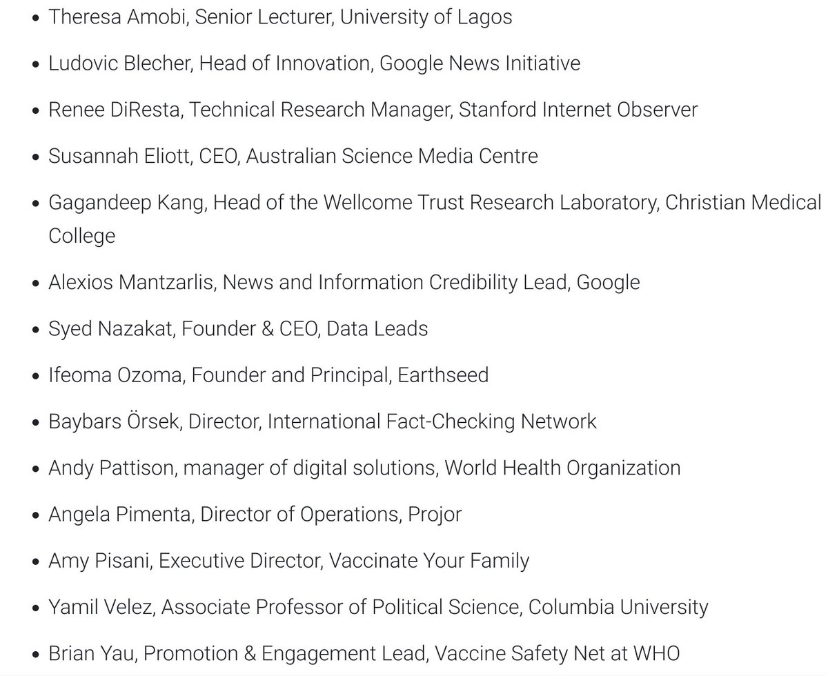 A global team of Googlers will review applications. The jury that will choose grantees is composed by the following people: 3/
