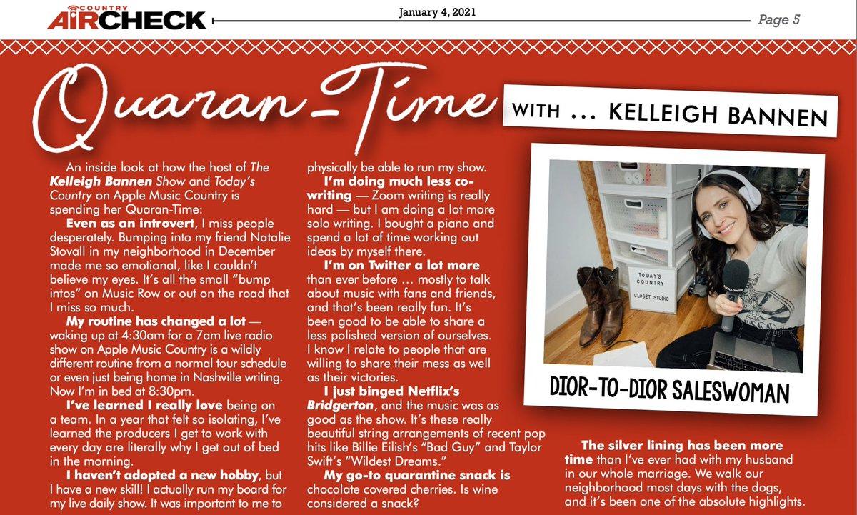 Thanks for the Quaran-Time @CountryAircheck ❤️