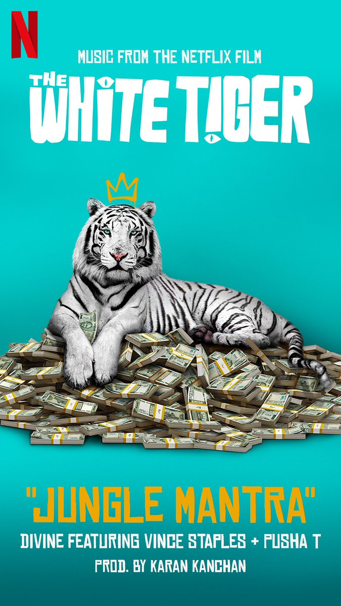 Did a song for #whitetigernetflix with some of my fav rappers from the world @kingpush @vincestaples 🔥🔥🔥🔥🕊🕊🕊 @netflix @priyankachopra @rajkummar_rao #comingsoon‼️ prod by @karankanchanmusic @gouravadarsh