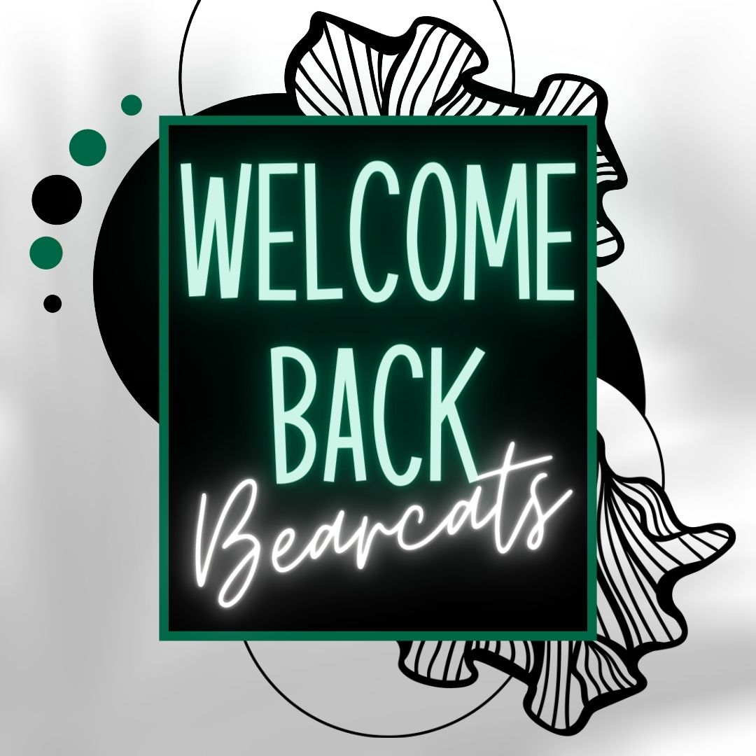 Replying to @ClubOwens: We're so glad you're back! 💚🐻🐱⁠ #oabaab #springsemester #welcomebackbearcats