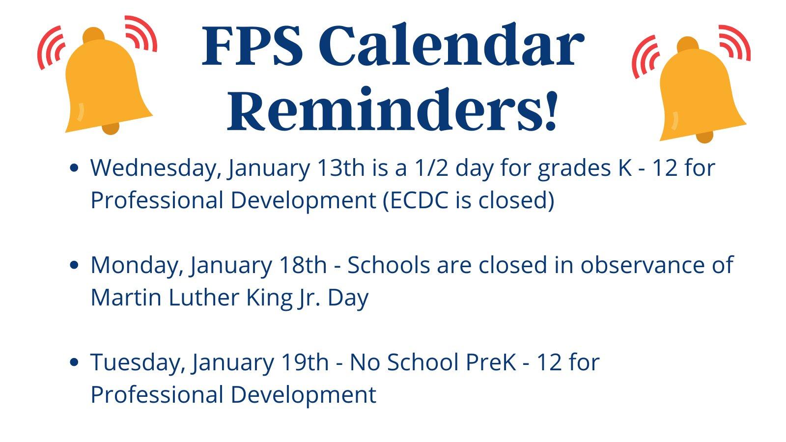 Franklin Public Schools, MA: School schedule reminders