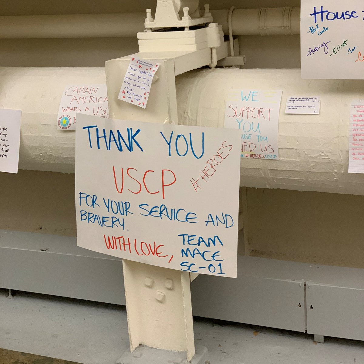 My staff, our families, and I can't thank the officers of the USCP enough for their service. They risk everything and make the ultimate sacrifice to protect Congress and our democracy. Thank you for keeping us safe. 💙💙