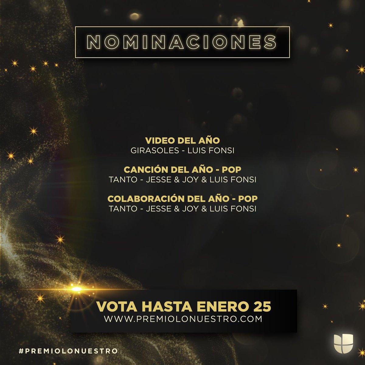 Honrado de recibir estas nominaciones tan importantes. Gracias @premiolonuestro y gracias a todos ustedes por siempre apoyar mi música. A votar se ha dicho 🙌🏽 #Girasoles #Tanto