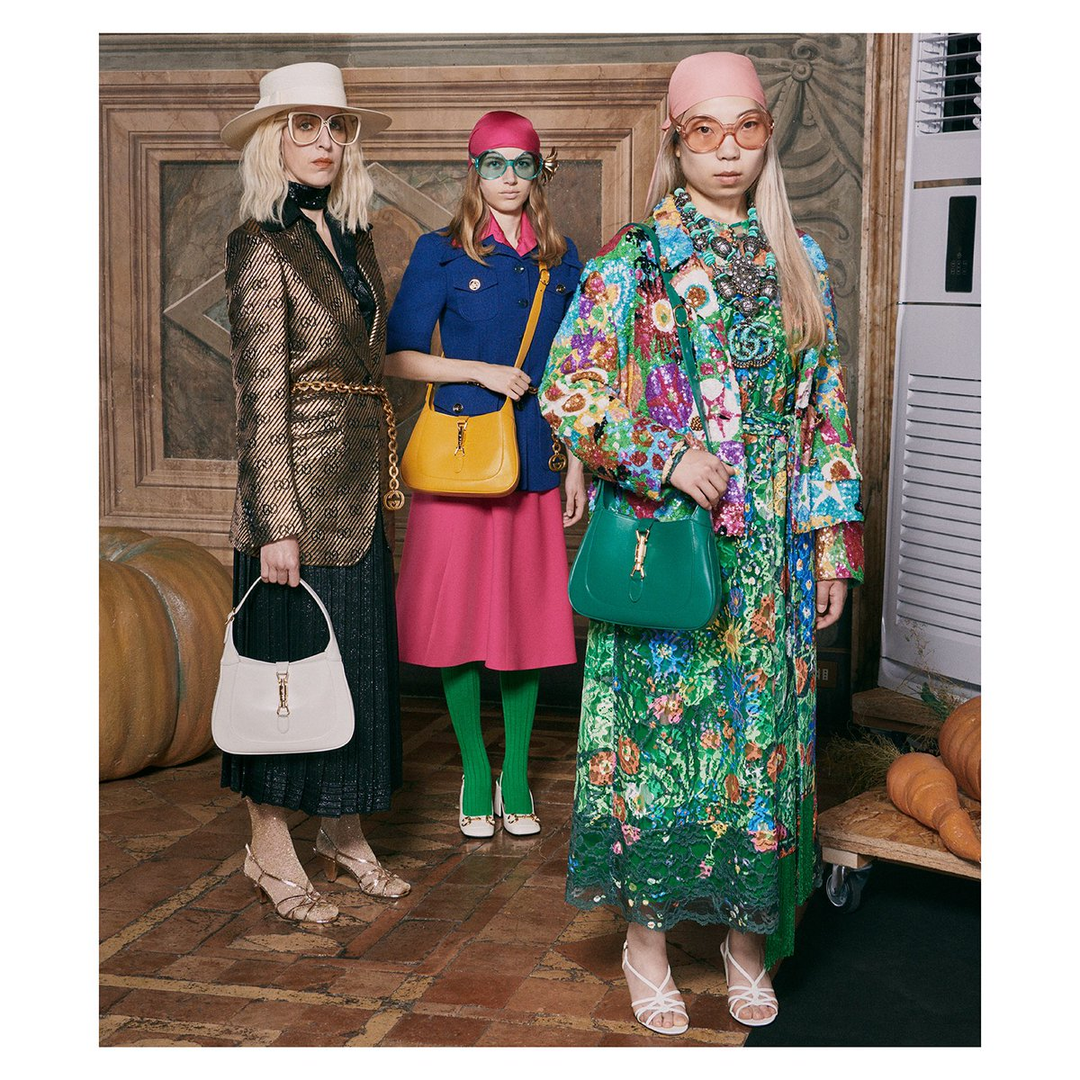 A collection designed to discard the old rules of fashion and create pieces meant to be worn always and not just for one season, #GucciEpilogue is defined by 70s silhouettes and an eclectic mix of patterns—including a #KenScott floral print. #GucciKenScott #AlessandroMichele