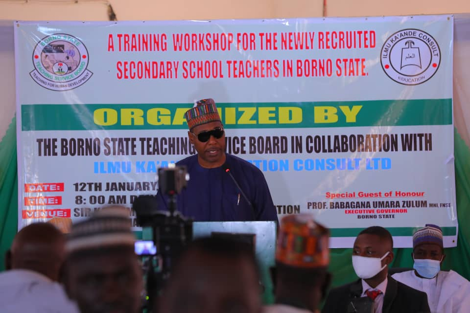 Borno: @ProfZulum launches training for 800 new teachers  ... Orders Illegal occupants of teachers quarters to vacate