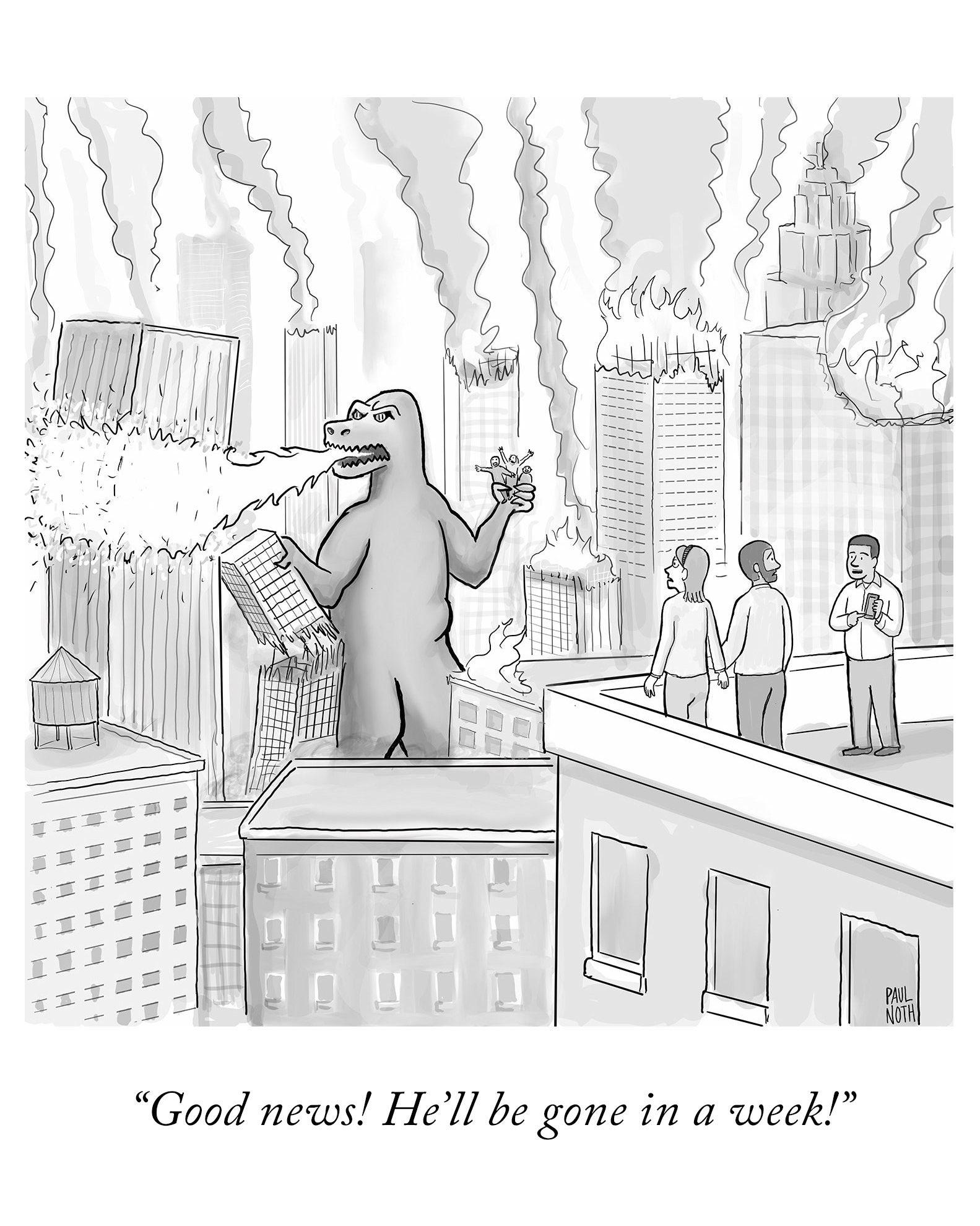 Politik Humor Funny NYer; Haben sie schönes Montag und toll Start zum Wochenbeginn.!