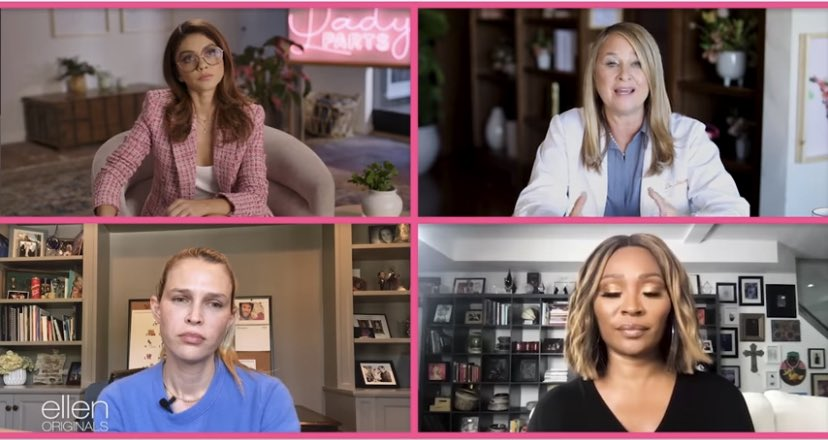 """""""Our reproductive rights are on the line and decided by men."""" Talking #womensrights on #LadyParts with @sarahhyland, @cynthiabailey10 and @SaraFoster 💗  @theellenshow @cynthiabfans"""