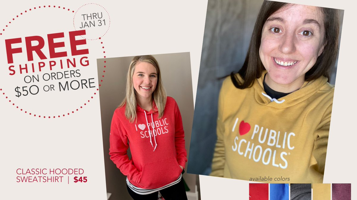 Love my current t-shirt and hoodie. Looks like I better get more ASAP. #SchoolPR #ACT4Ed #ilovepublicschools