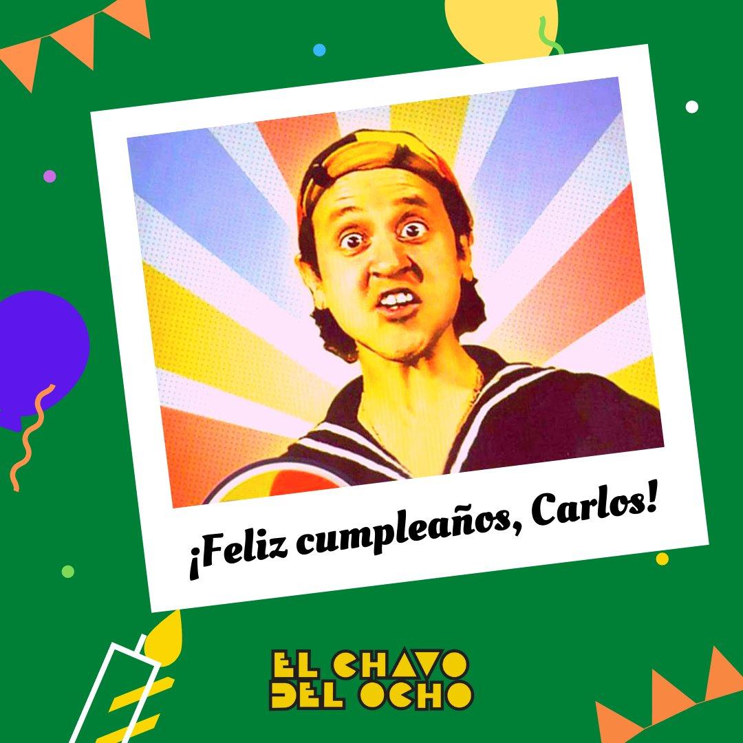 ¡Muchisisísimas felicidades al cachetón de la Vecindad, Carlos Villagrán! 🥳