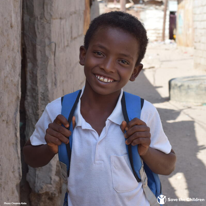 """I want to be a teacher when I grow up. I want to help people who can't read and write, because the ability to read is the best feeling in the world.""  For children like Mohhamed, who have been forced to flee from conflict, education provides stability and hope for the future."