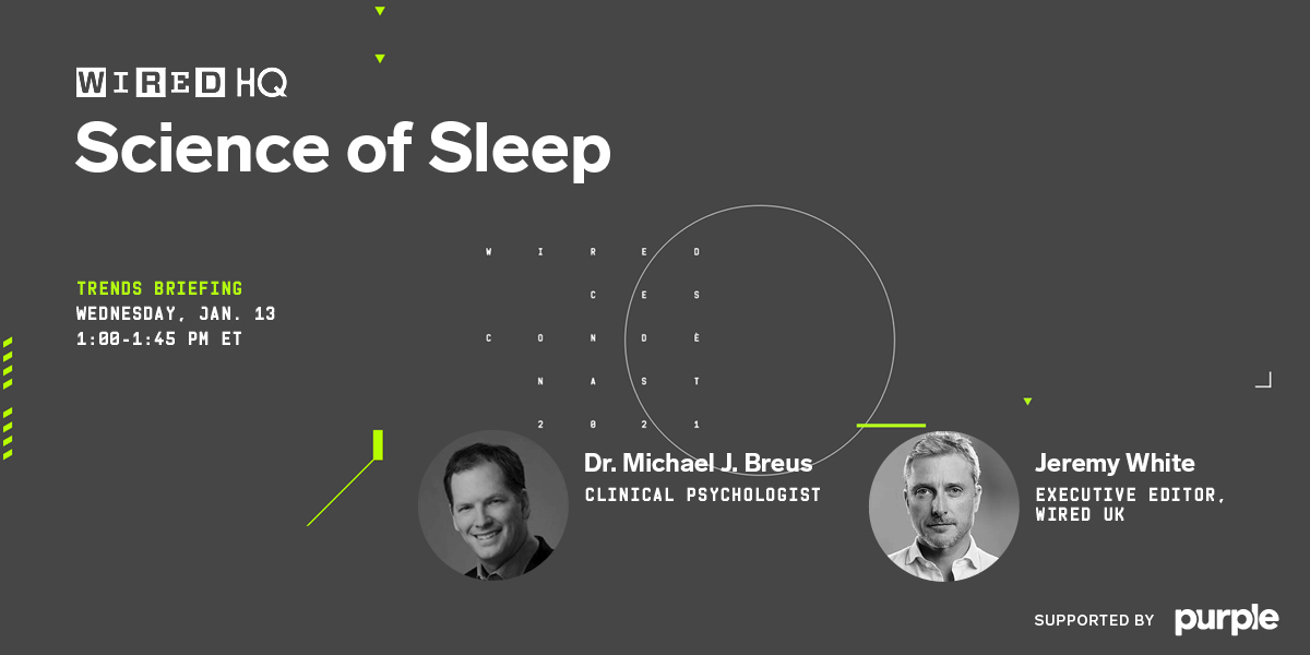 Your body needs sleep—desperately. From your brain to your muscles, sleep is vital to your overall health and wellness.  At 1 pm ET on Wednesday, watch our briefing on the science of sleep for tips on how you can get more:  Supported by @Purple #ad #WIREDHQ