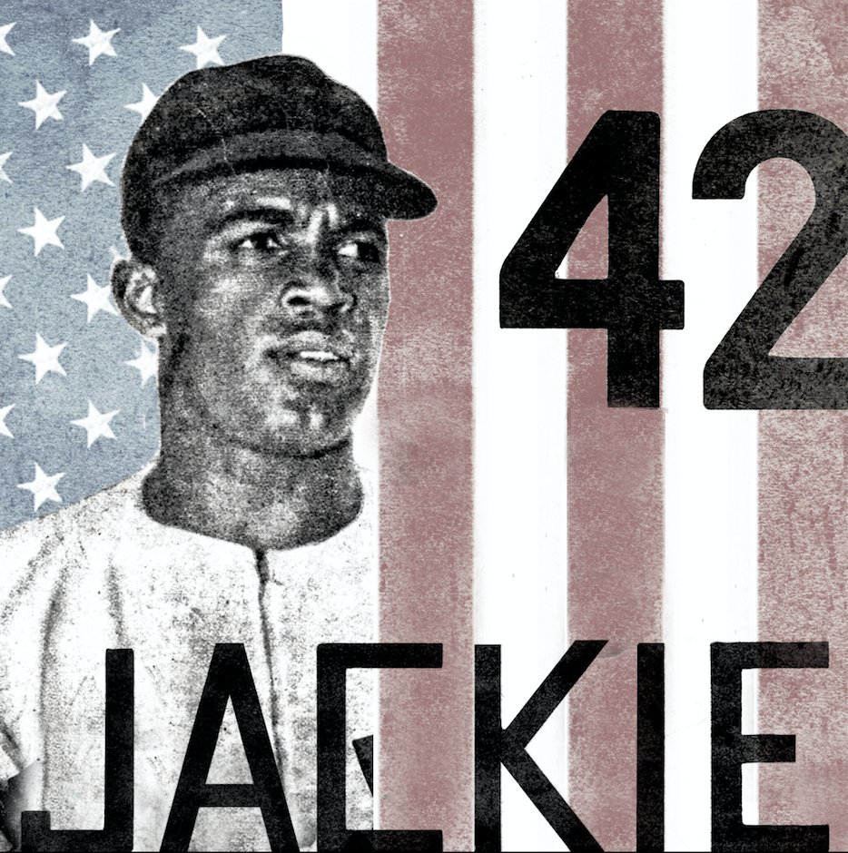 """Jackie Robinson // Roberto Clemente Double drop for baseball royalty.  //  """"Above anything else, I hate to lose."""" - Jackie Robinson  //  """"Pitch me outside, I will hit .400, Pitch me inside and you will not find the ball."""" - Roberto Clemente"""