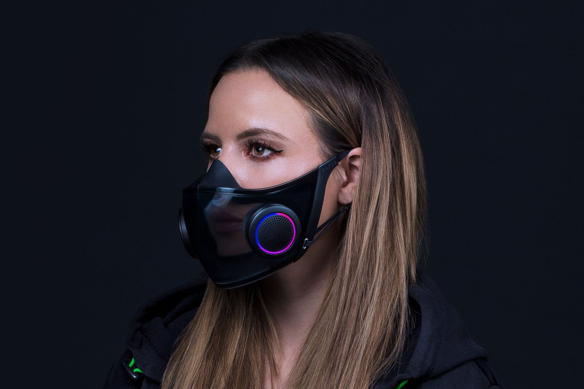 Replying to @verge: Razer has created a concept N95 mask with RGB and voice projection