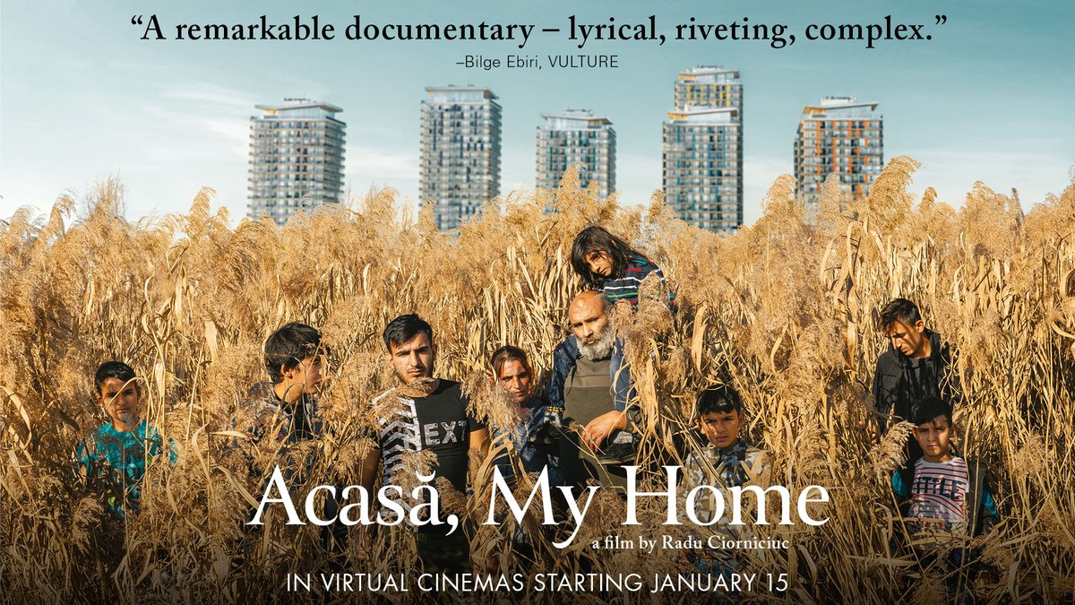 Our newest film, the stunning, award-winning documentary ACASA, MY HOME, opens in virtual cinemas on Friday. Find a theater near you here: