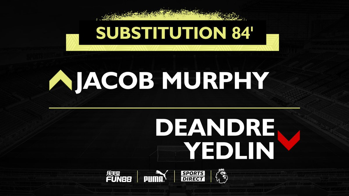 84' Substitution.  [1-0]  #SHUNEW | #NUFC