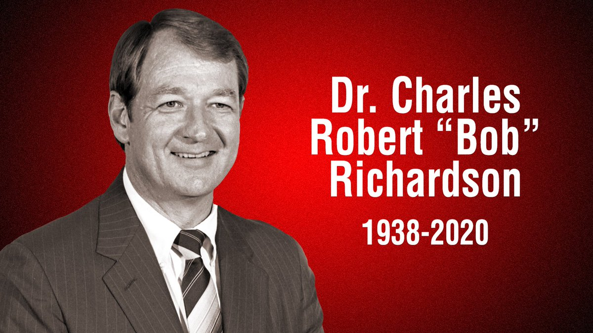 """Over the holidays we lost the 8th President of SRSU Dr Charles Robert """"Bob"""" Richardson. President Richardson did great work at SRSU, he updated many academic buildings and transitioned SRSU through the late 20th century. The lobo family sends our condolences to the family."""