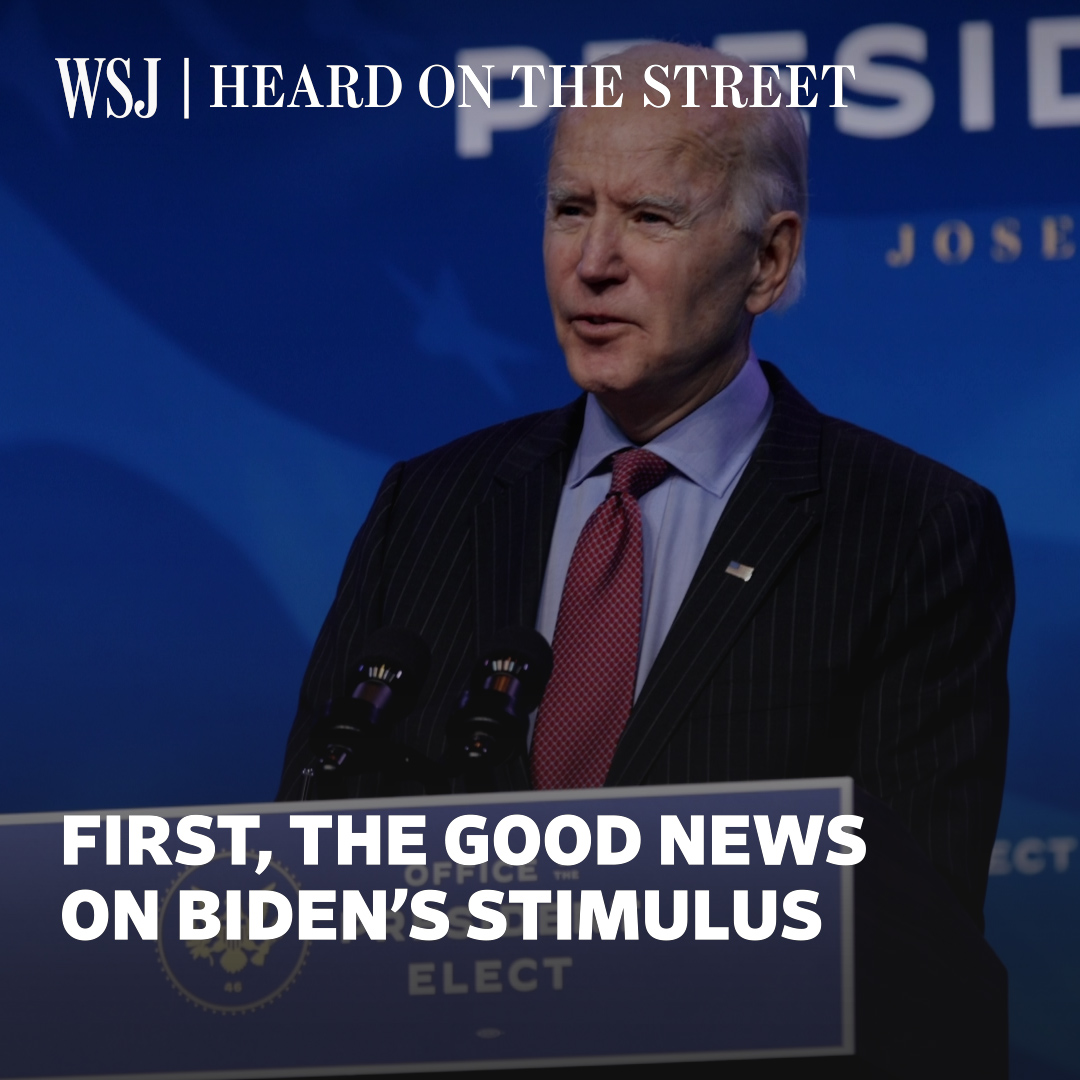 Another stimulus package may come after President-elect Joe Biden's inauguration, sending mixed but good signs for stock prices. @WSJheard explains.  #WSJWhatsNow