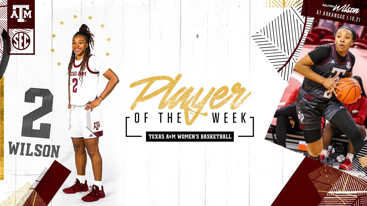 Aaliyah Wilson is the truth! SEC Player of the Week 👑 🔗 aggi.es/38ELBnE #GigEm | @aaliwilson2