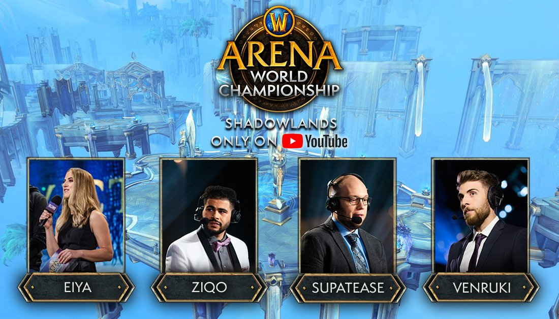 Ziqo - Happy to announce that I will be covering the AWC with these talented, passionate and beautiful individuals! Loving shadowlands PvP so far and I really can't wait to be going full geek mode on the desk when the pro teams play!! LET'S GOO 🔥🔥💯💯✔️✔️