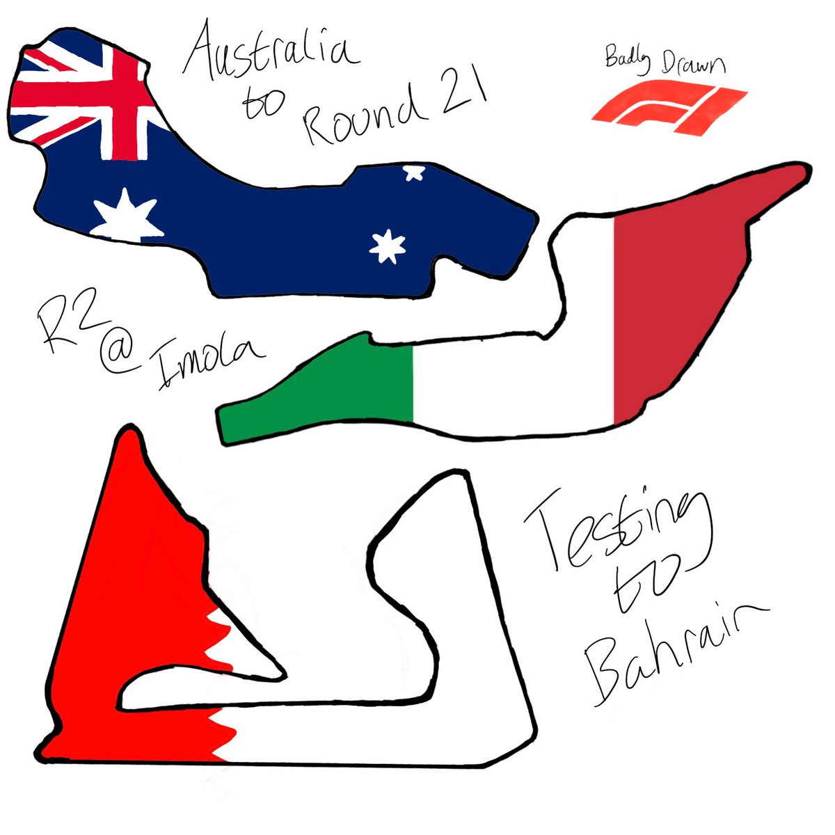 014: Calendar changes announced today. Melbourne Grand Prix moves to round 21 due. Imola Replaces China for round 2 Round 1 and pre-season testing moves to Bahrain  #F1 #Formula1 #formulaone #AusGP #BahrainGP #ImolaGP #ChinaGP #imola #albertpark https://t.co/6EVqCMhmPn