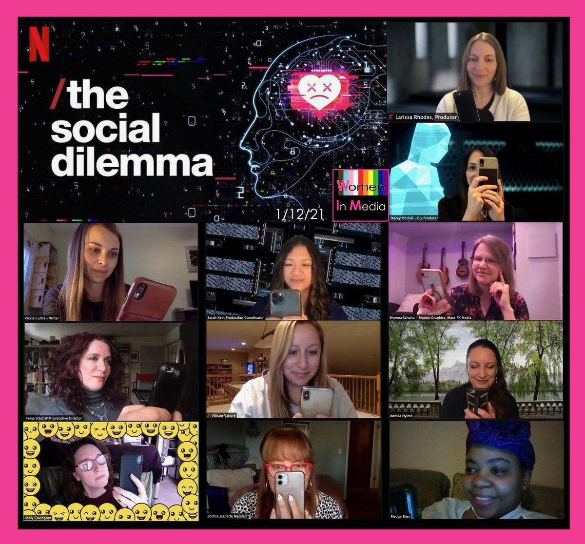 Thank you all for looking at your screens with us for tonight's Doc Talk: The Social Dilemma! We hope you enjoyed some bts with the women who made The Social Dilemma possible.   Try not to get sucked into a social media hole after liking this post 😂  Photo by: @ashlycovington