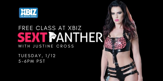 Thank you @xbiz and @sextpanther for having me!  If you missed class, I have a full length version up