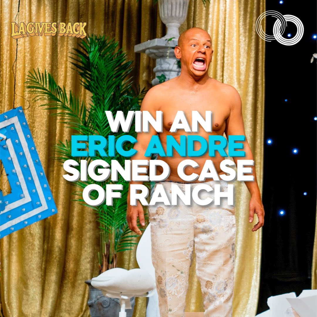 Be the envy of all your friends this year by winning an @ericandre signed case of ranch! Just head over to  to donate to win!   Donations support homeless charities @SchoolHouseConn, @DWCweb & @MFPLA.
