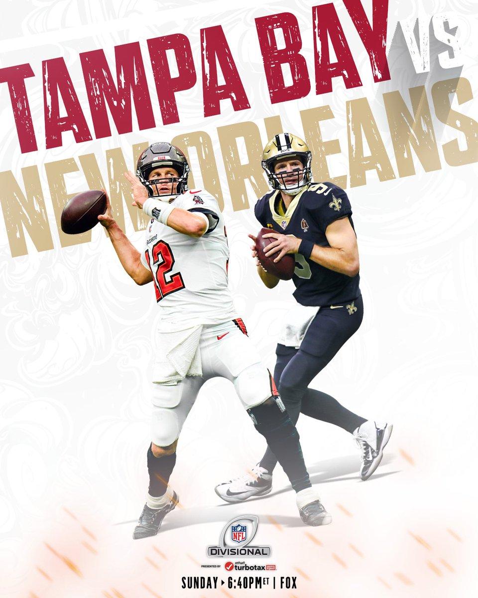 14x Pro Bowler @TomBrady vs. 13x Pro Bowler @drewbrees.  📺: #TBvsNO -- Sunday 6:40pm ET on FOX 📱: NFL app // Yahoo Sports app